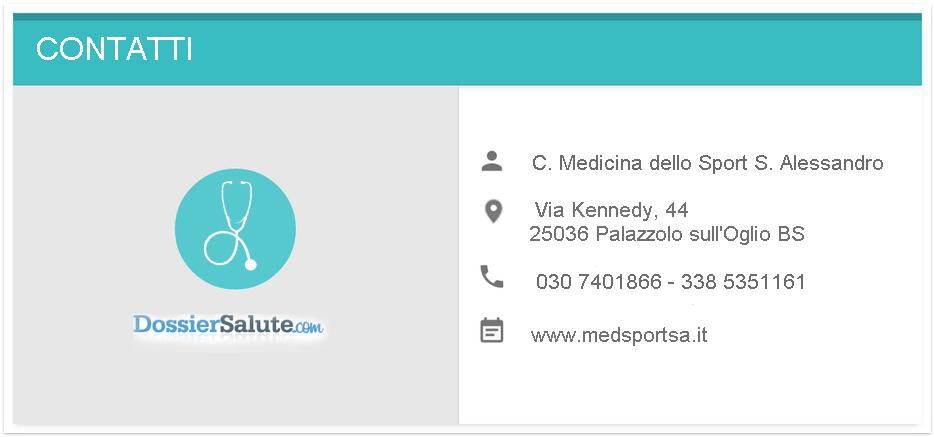 Contatti Centro di Medicina dello Sport S. Alessandro