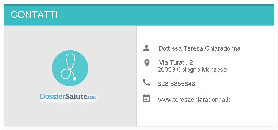 Contatti Dott.ssa Chiaradonna