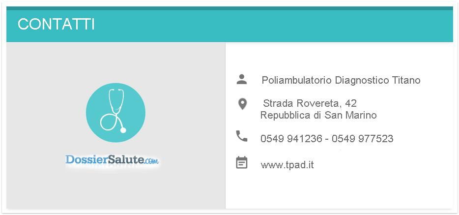 Contatti Poliambulatorio Diagnostico Titano (tPAD)