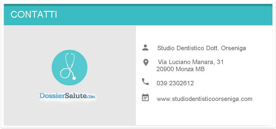 Contatti Studio dentistico Orseniga