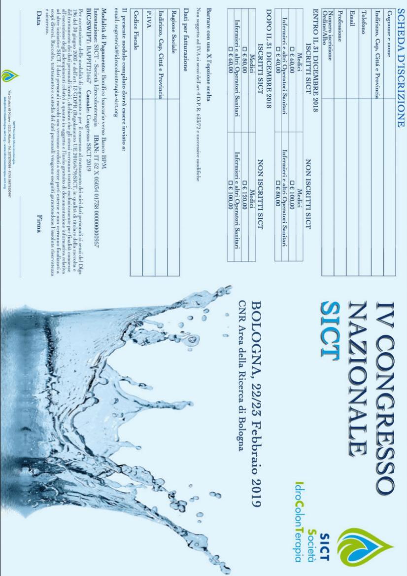 IVI Congresso Nazionale SICT